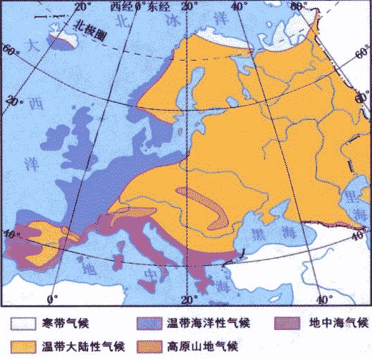 欧洲的气候各分布在哪些地方图片