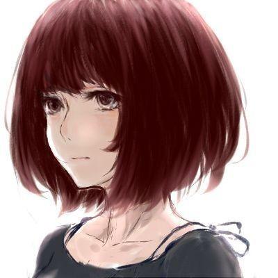 求动漫短发女孩插画 爱说篇