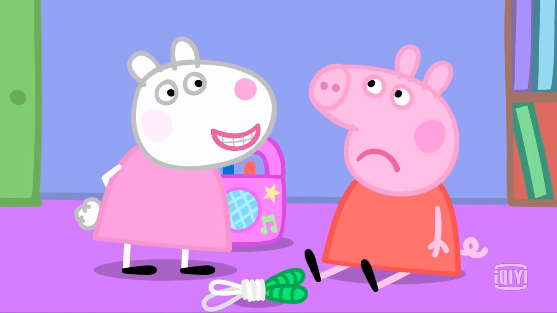 """表演结束后的小羊苏西还对小猪佩奇发起了一波""""嘲讽""""."""