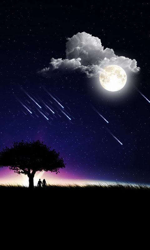 最唯美流星雨动态壁纸下载