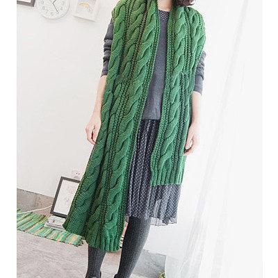 请问这款麻花围巾织法_360问答