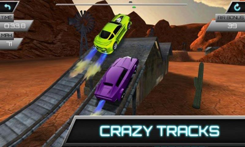 汽车飞跃比赛 修改版截图2