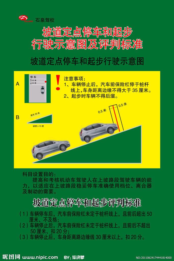 坡道定点停车和起步_360百科