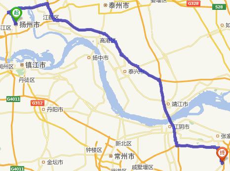 扬州到江阴顾山镇怎么走