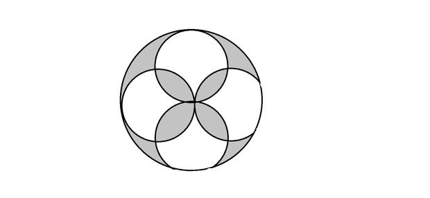 如图,每个小圆的部分是2厘米,求阴影小学的面私立半径台州市图片
