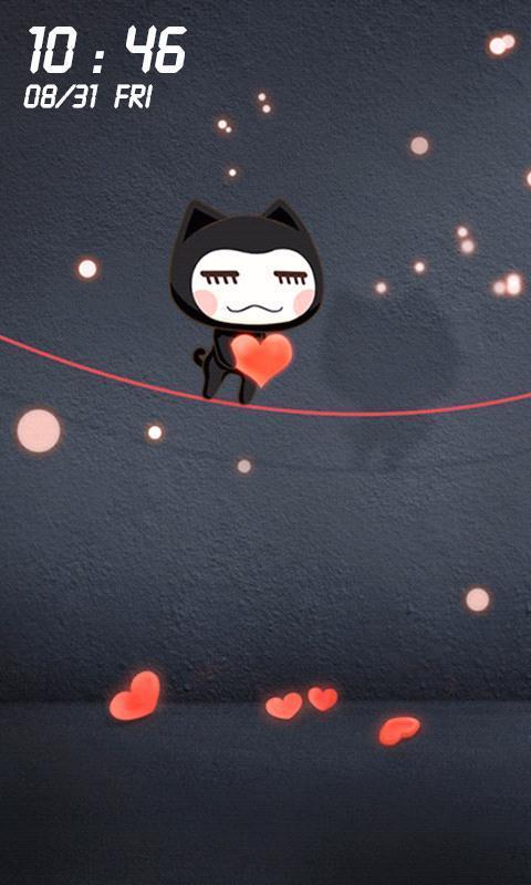 一款可爱的卡通爱情动态壁纸,阿狸的爱情,小左小右的爱情,更多萌