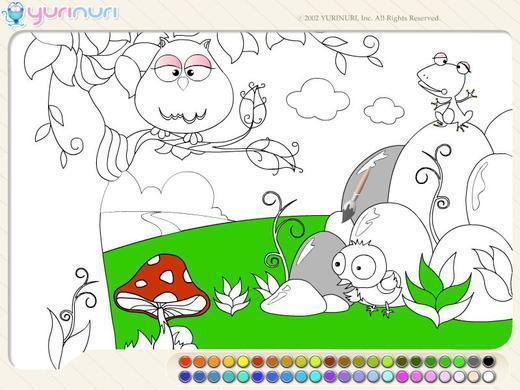 美丽的森林简笔画;; 森林里的动物都出来玩了!