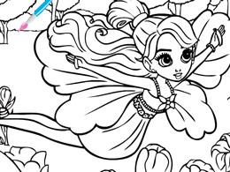 芭比之花仙子填色图片