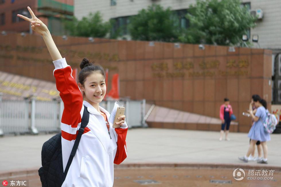 清纯可爱:这位高三女生获赞最美考生 - 一统江山 - 一统江山的博客