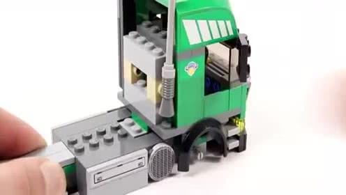 乐高积木:乐高城市7733工程车系列之卡车和叉车套装快速拼装