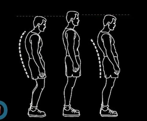 手绘运动员背部