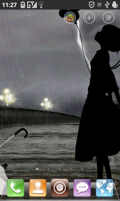 qq头像雨中伤感动态
