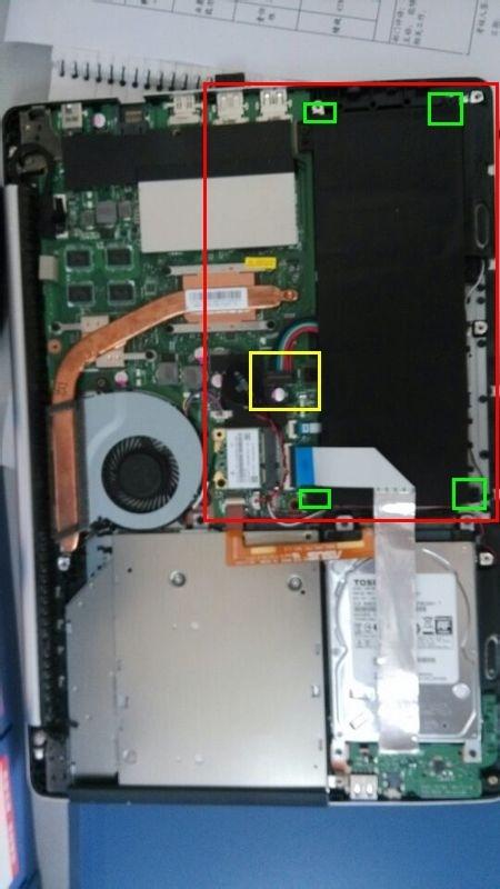 华硕笔记本s451l电脑拆电池怎样拆