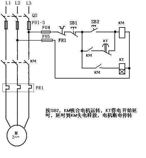 用接触器控制三电机全自动钢筋调直切段机电路图
