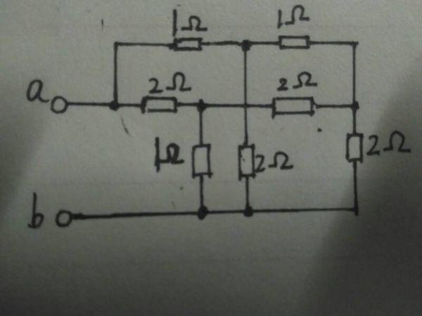 物理电路问题,求ab间的等效电阻,最好画出等效电路图