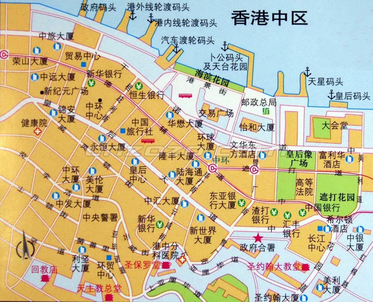 香港地图中文版