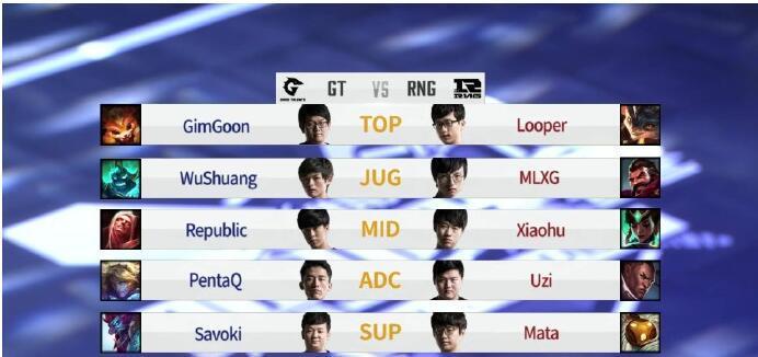 RNG让一追二击败GT取胜