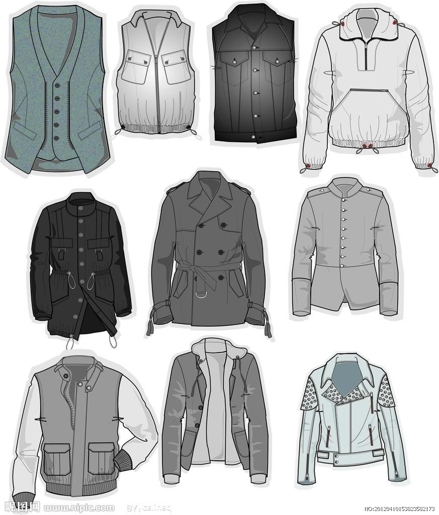 设计服装时,往往以调和为手段,达到统一的目的.图片
