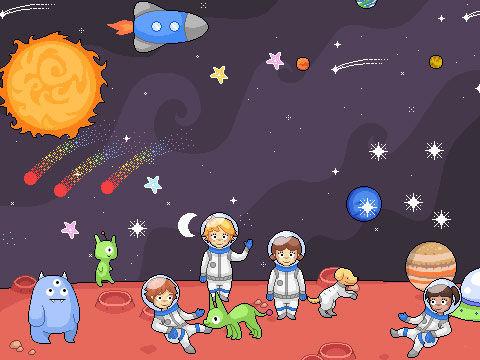外太空漫画图片