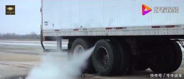 实拍台架测试汽车轮胎,看完你大概就知道高速下是怎么爆胎的了