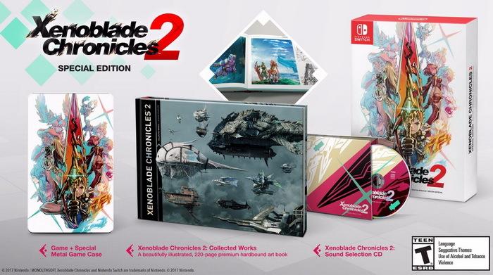 《异度之刃2》Switch版发售日敲定12月1日 特别版内容公开