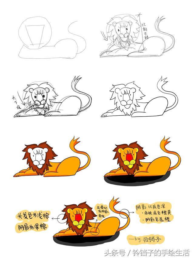 简笔画|10分钟画出可爱的老虎