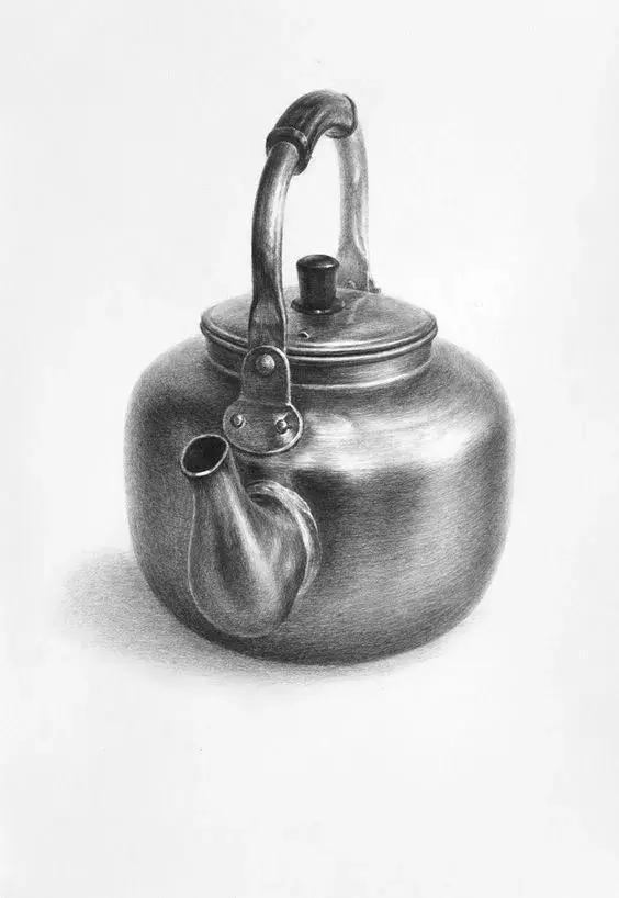 真想摔杯子 【2】 被虐指数:★★★☆☆ 不锈钢也是素描静物中常见的
