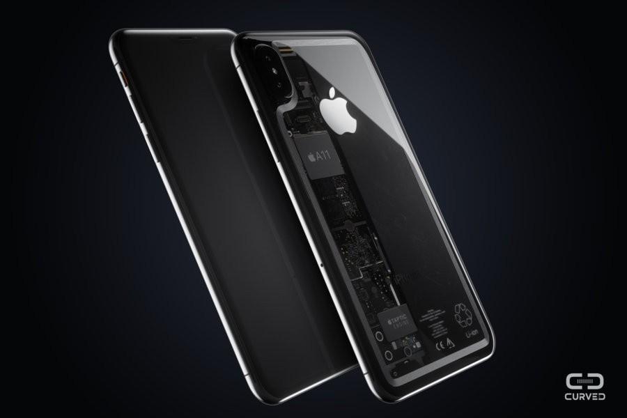 透明版iPhone8概念设计颜值大赞 背板全透明材质