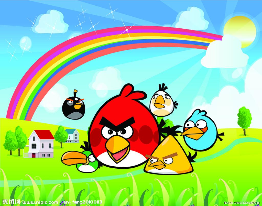 愤怒的小鸟矢量图_动漫矢量