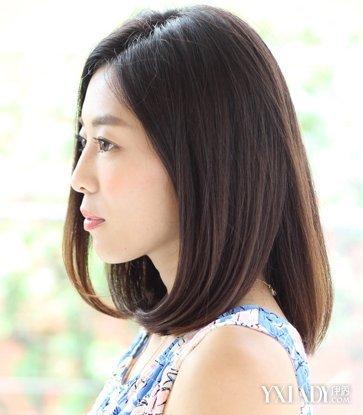 适合女生头发只长到肩膀的发型图片