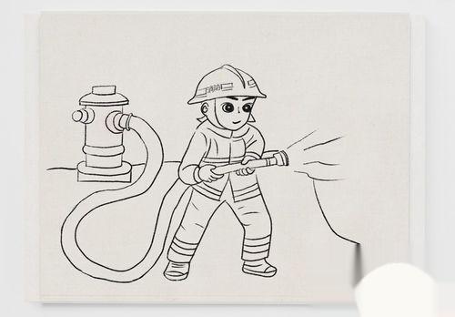 消防员怎么画简单,简笔画消防员的画法