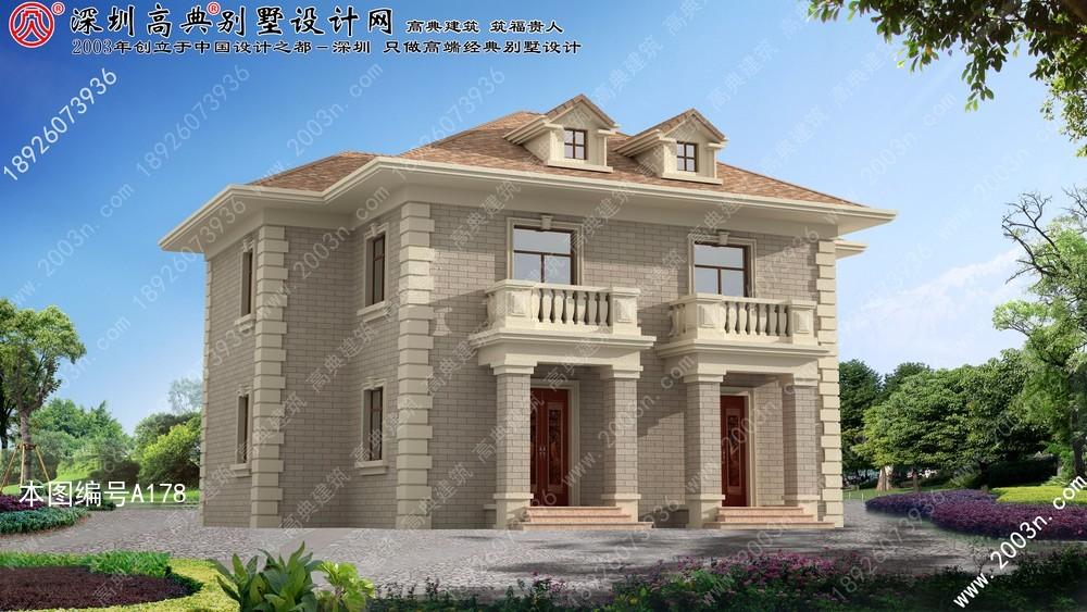 别墅设计, 三层别墅设计图, 农村别墅外观效果图