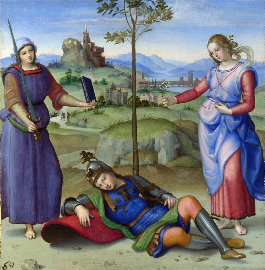 闲话美术史|拉斐尔的《美惠三四季》别墅女神庭御图片