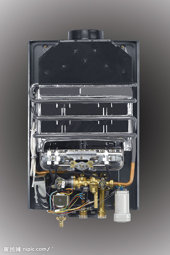 9,温度传感器:检测出水温度. 10,出水接头:连接热水软管.图片