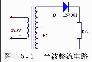 它由电源变压器b ,整流二极管d