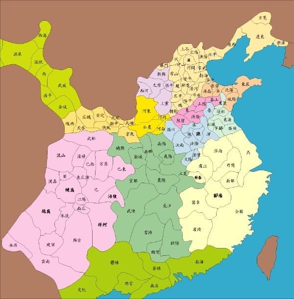 找东汉末年时的州郡地图和三国时期的州郡地图