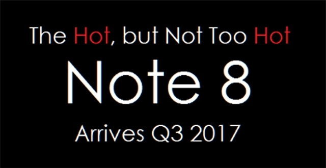 三星确认2017年秋季发售Note 8