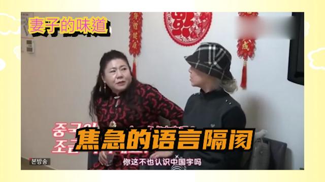 妻子的味道 :中韩妈妈语言不通, 韩国妈妈无奈叹气!