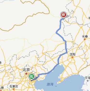 内蒙古乌兰浩特是天津的哪个方向