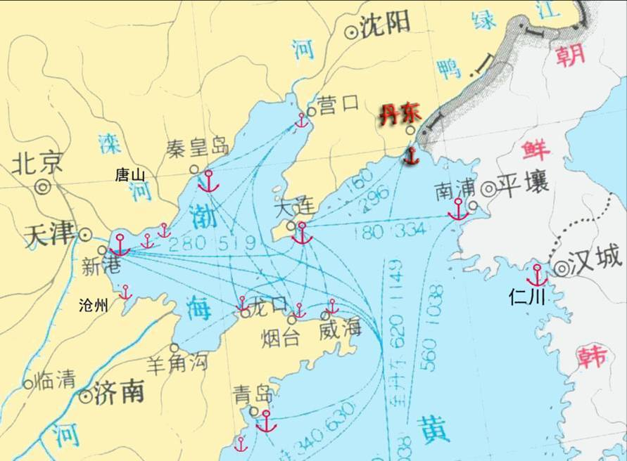 丹东市地理位置