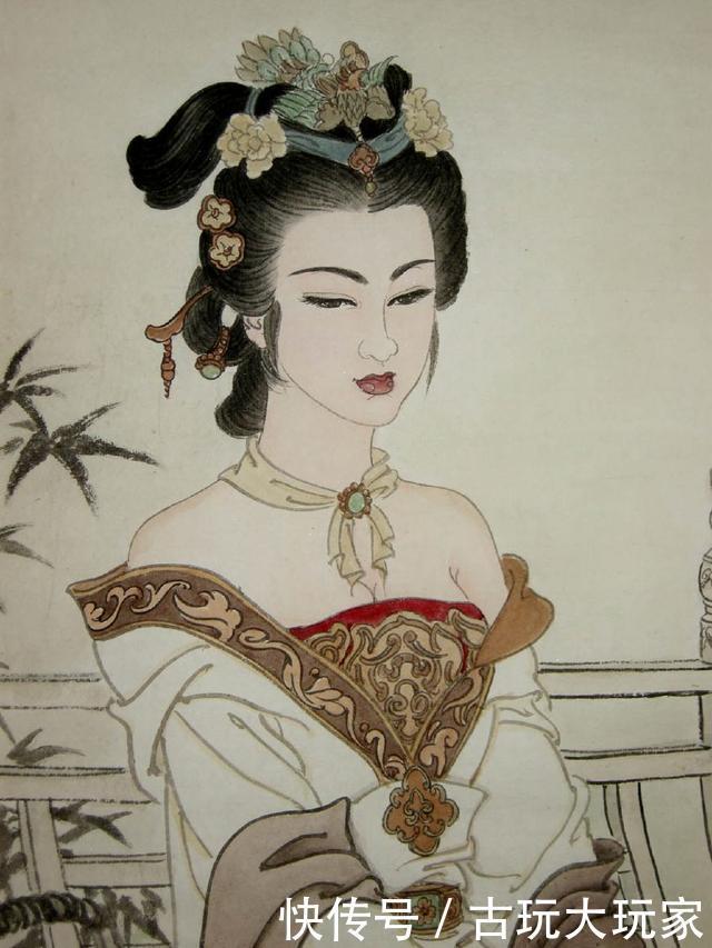 谈现代写意人物画开展及特征,国画人物美女赏析,佳人的婀娜身段