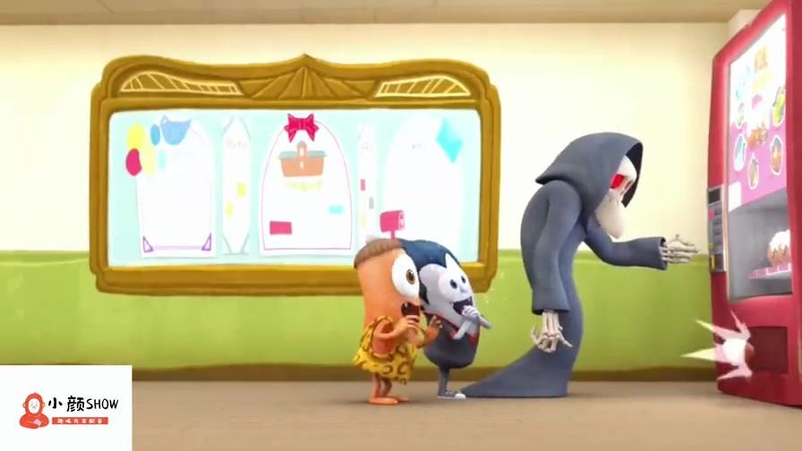 妖怪学院:吸血鬼和大眼仔玩扭蛋,骷髅老师暴走了!