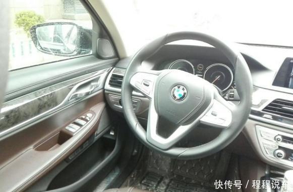 汽车 正文  宝马7系 740le xdrive的多功能方向盘,宝马7系实虽说是d级