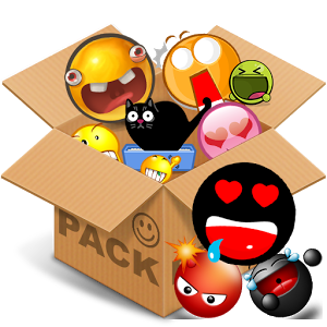Emoticons pack, Black Smiley