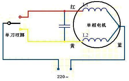 有电傛的排风扇怎么接220v电源线