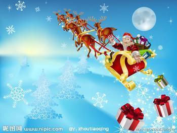 圣诞老人送礼物时用什么样的工具?