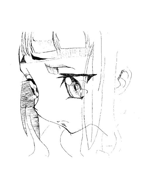 男女铅笔画唯美 手绘