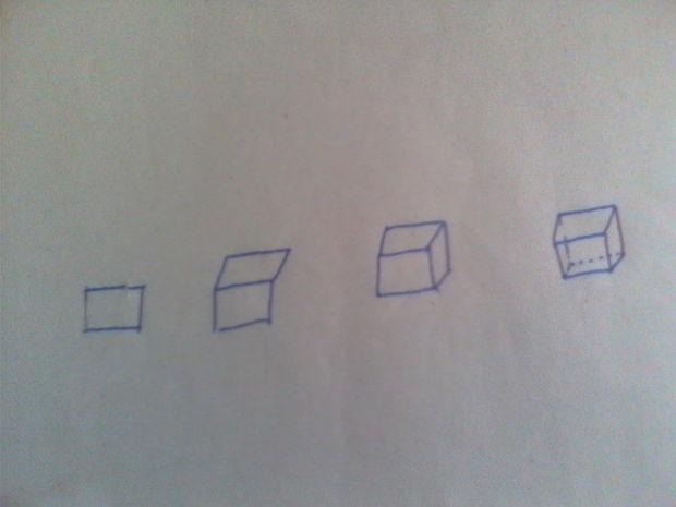 用手画正方体和长方体的方法及步骤,不是素描画法,详细一点图片