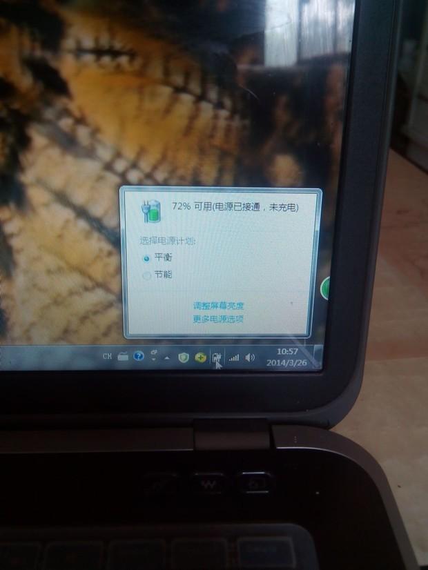 dell笔记本电脑充电时显示电源与接通未充电