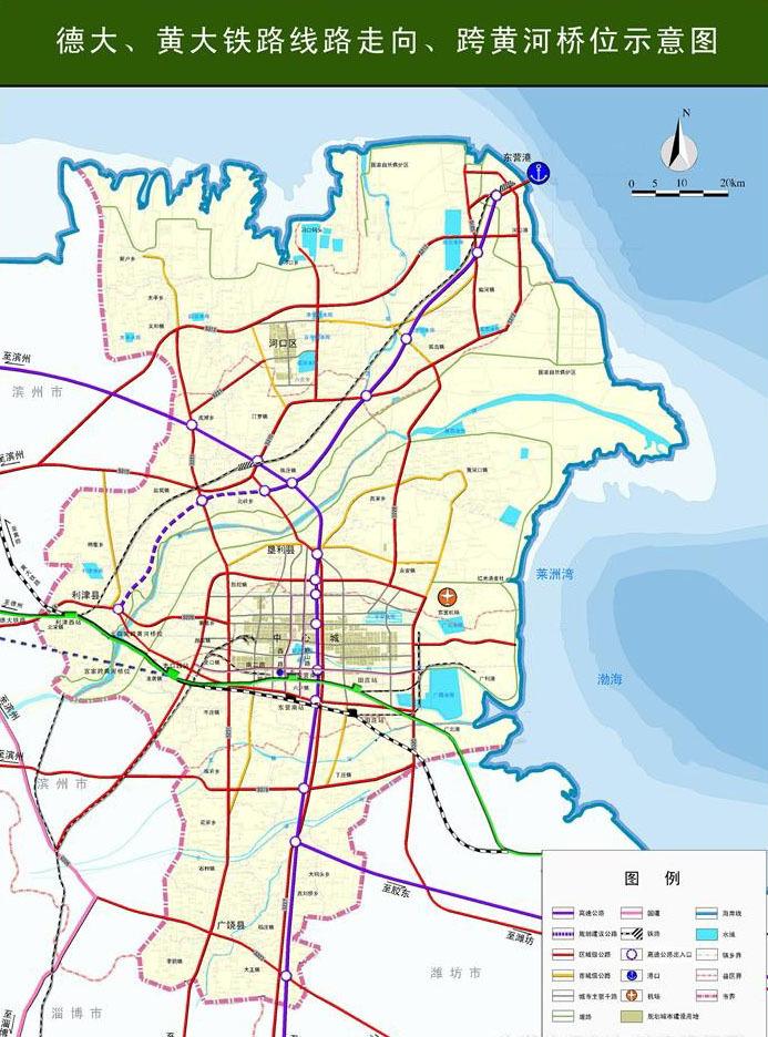 德州到青岛的铁路地图